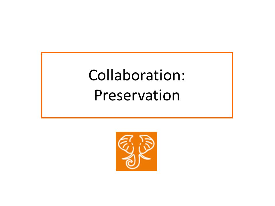 Collaboration: Preservation