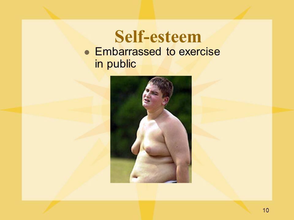 10 Self-esteem Embarrassed to exercise in public