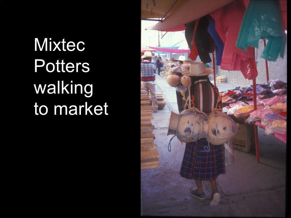 Mixtec Potters walking to market