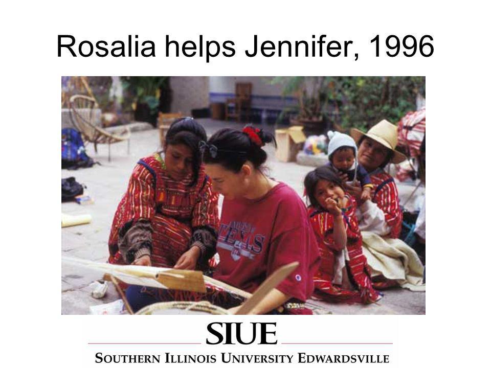 Rosalia helps Jennifer, 1996