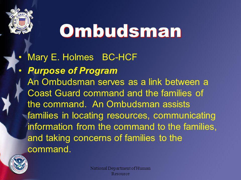 Ombudsman Mary E.