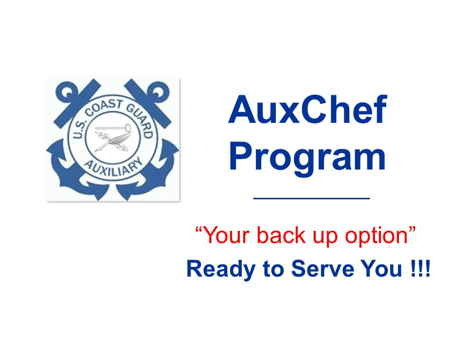 AuxChef Program Your back up option Ready to Serve You !!!