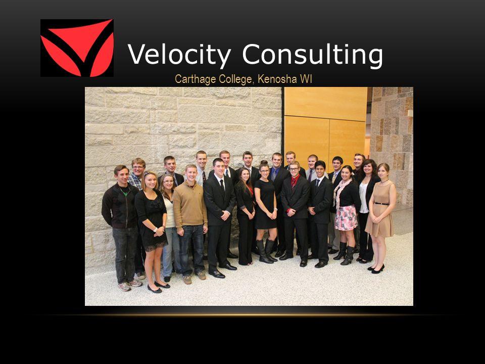 Velocity Consulting Carthage College, Kenosha WI