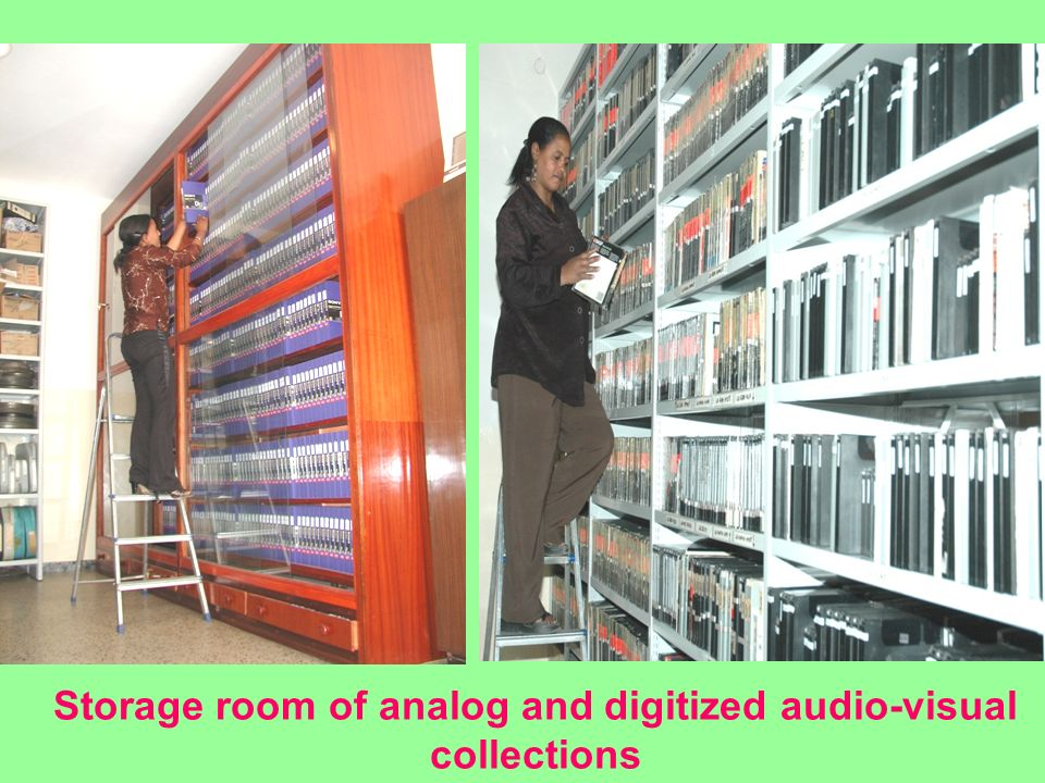 Storage room of analog and digitized audio-visual collections