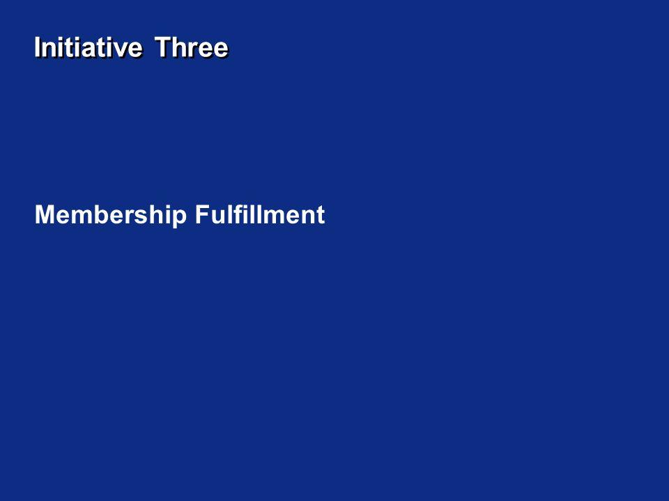 Initiative Three Membership Fulfillment