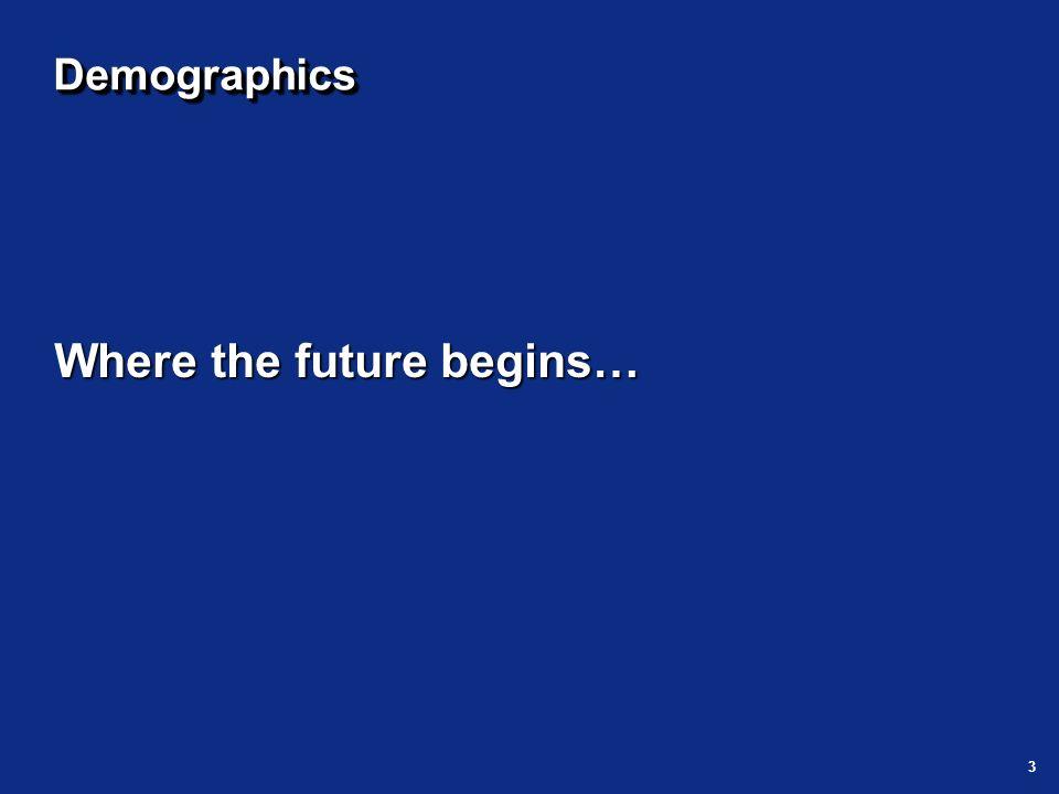 3 DemographicsDemographics Where the future begins…