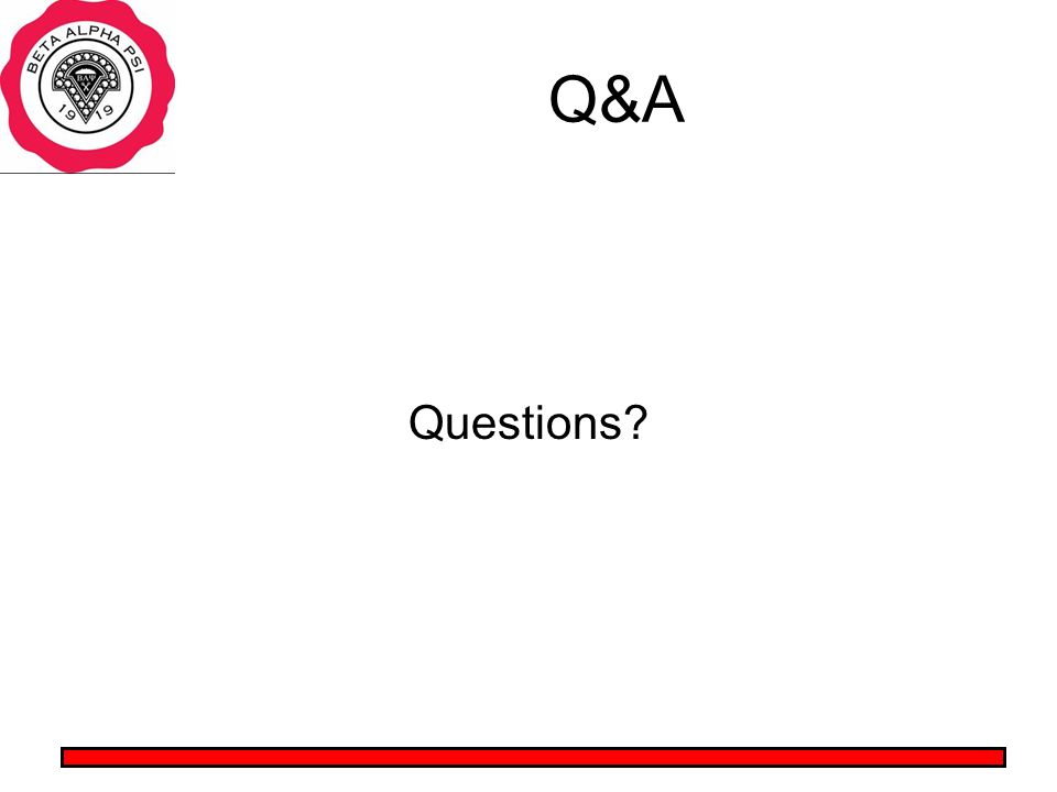 Q&A Questions?