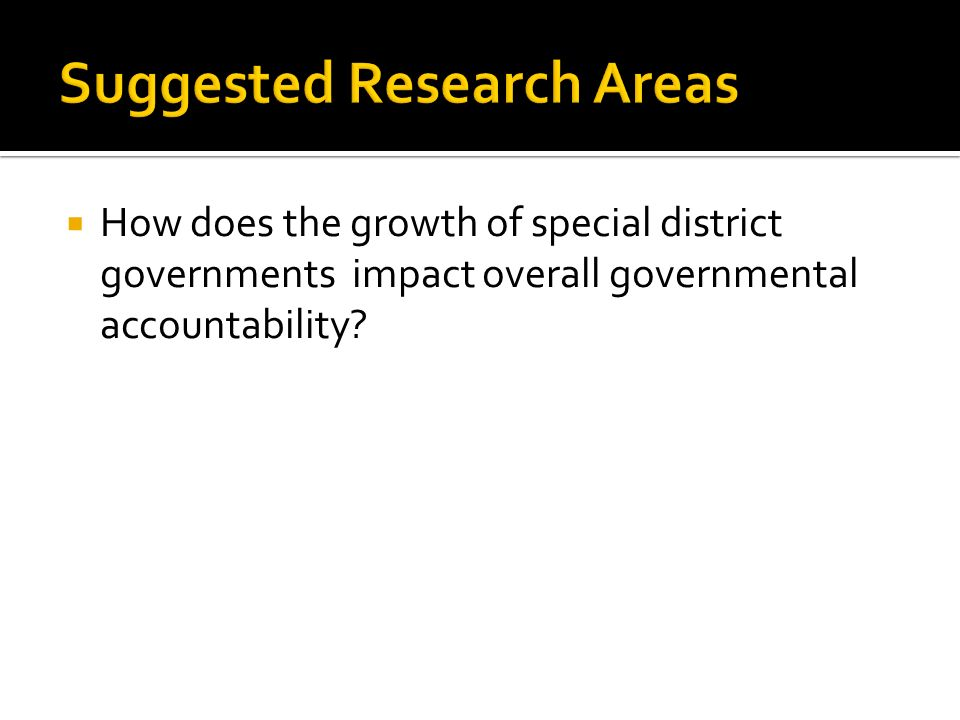 How does the growth of special district governments impact overall governmental accountability?