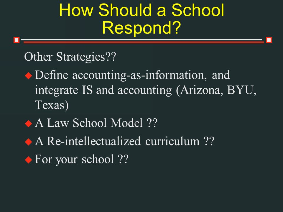 How Should a School Respond. Other Strategies?.