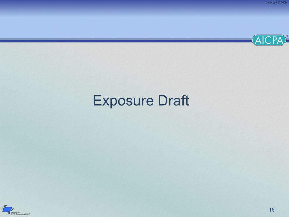 16 Exposure Draft