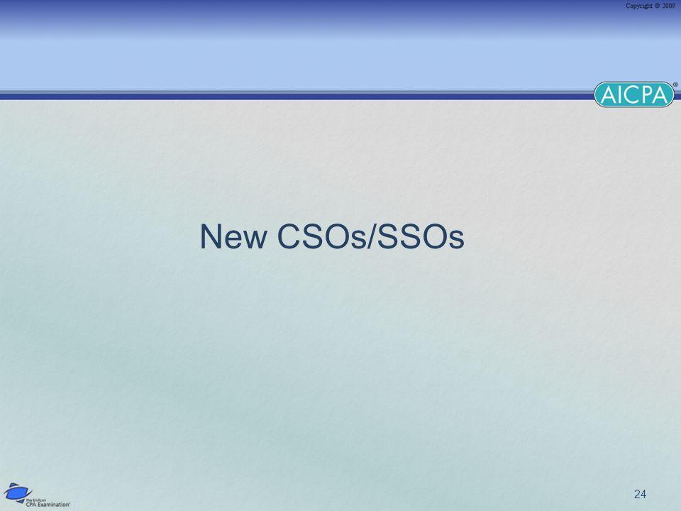 24 New CSOs/SSOs