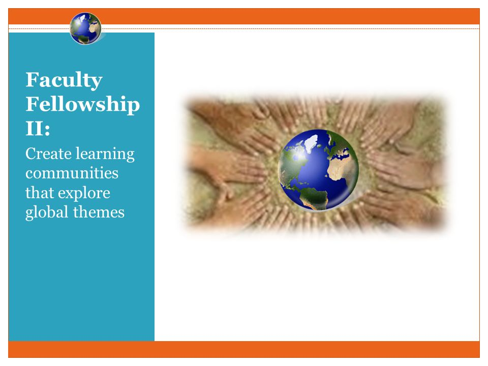 Faculty Fellowship II: Create learning communities that explore global themes