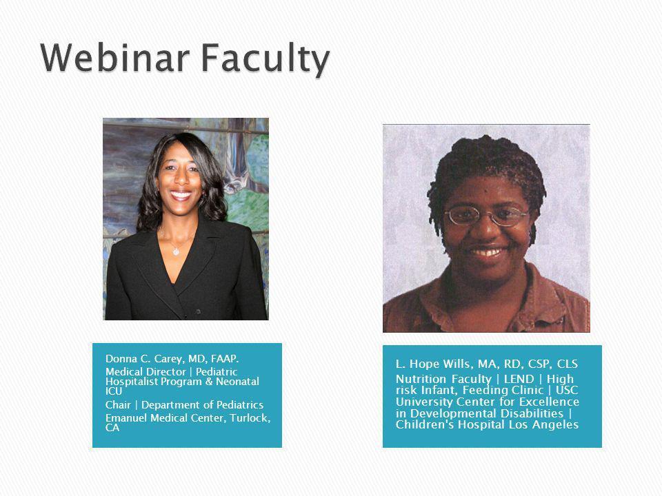 Donna C. Carey, MD, FAAP.
