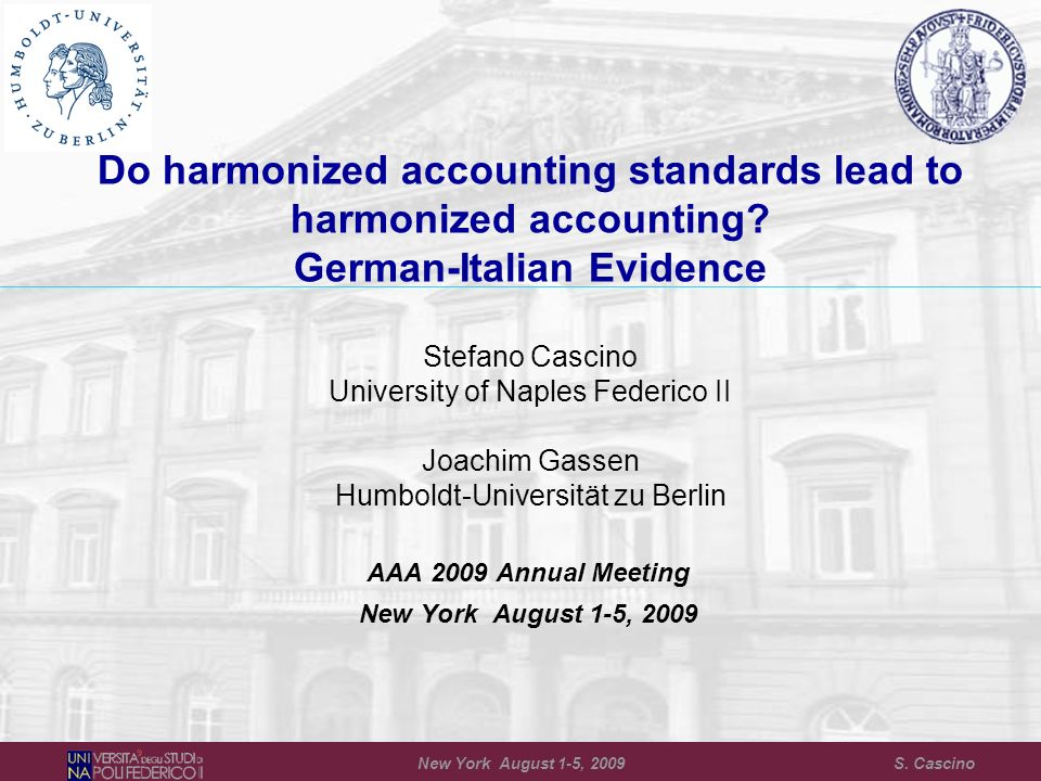 20 Results: 2006 IFRS Disclosure Compliance Matched Sample Germany MatchedItaly StandardnMeanSDnMeanSDt-valueZ-score IFRS 2570.6810.360660.8280.327-2.37**-2.66*** IAS 11290.8740.226490.6730.3572.71***2.62*** IAS 171370.8150.3081250.6130.3704.81***4.83*** IAS 191170.6860.2961530.6730.3200.760.51 IAS 331530.8870.2091530.8400.2731.71*0.76 IAS 361250.5170.4181520.4710.4030.930.81 IAS 381510.9290.1831530.7410.3326.13***5.60*** IAS 391220.6330.3511310.6910.384-1.26-1.73* New York August 1-5, 2009 S.