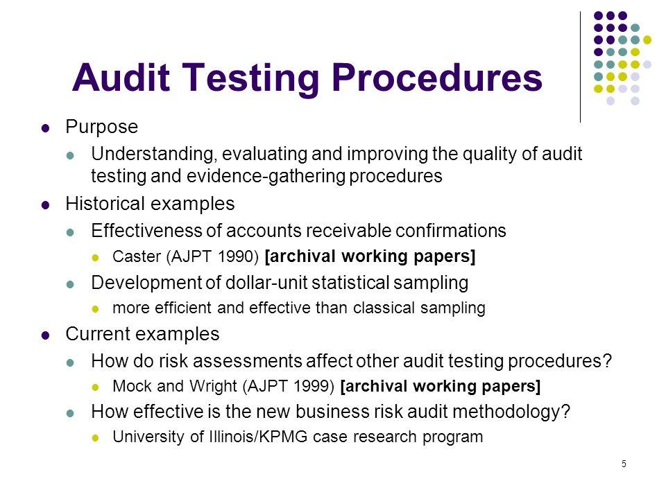 6 Auditor Judgments Descriptive lens models (1970s) What information cues affect auditor decision-making.