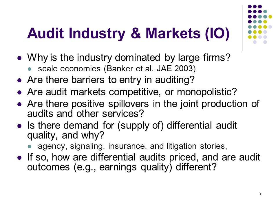 10 Regulatory Institutions How do professional bodies & regulatory institutions affect audits and accounting firms.