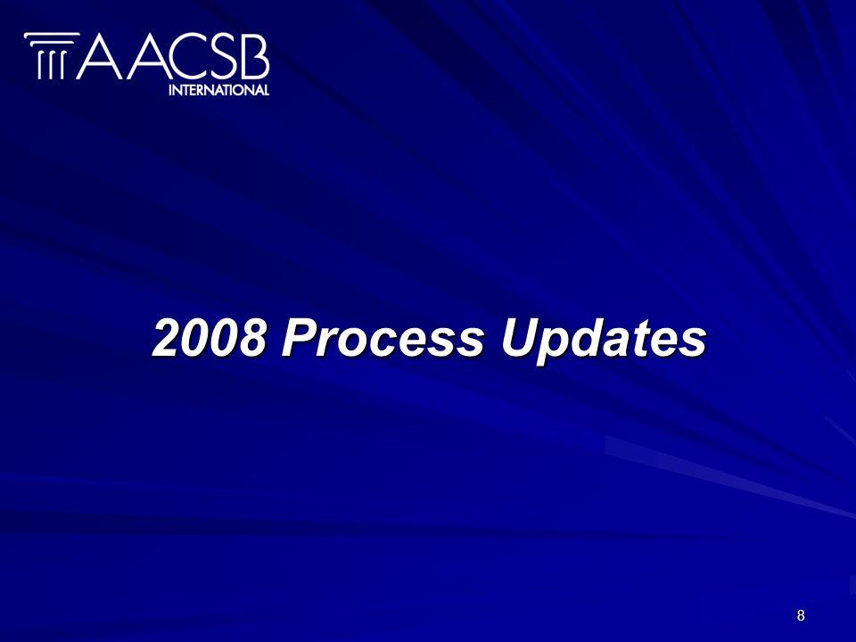 8 2008 Process Updates