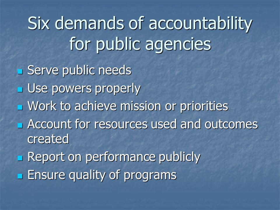 Social changes + accountability + accreditation = ?
