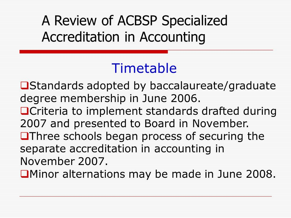 Standards adopted by baccalaureate/graduate degree membership in June 2006.