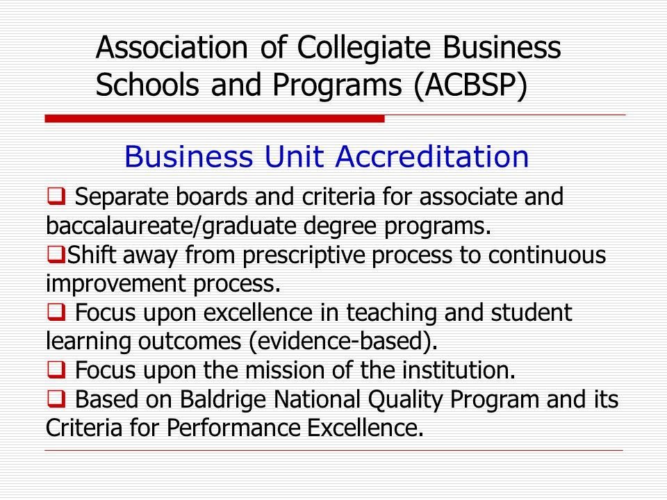 Separate boards and criteria for associate and baccalaureate/graduate degree programs.