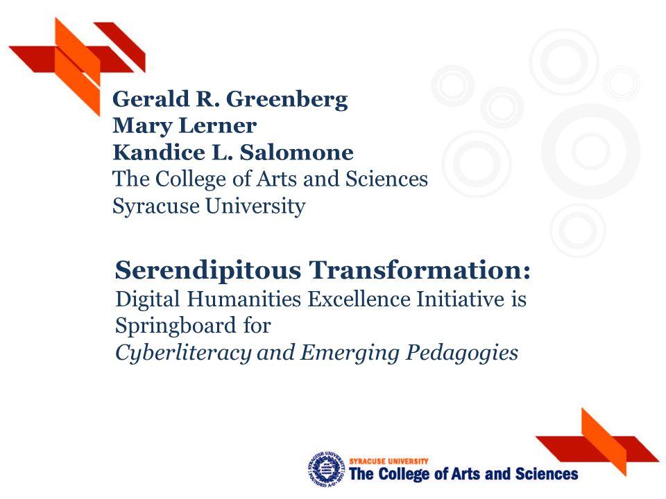 Gerald R. Greenberg Mary Lerner Kandice L.