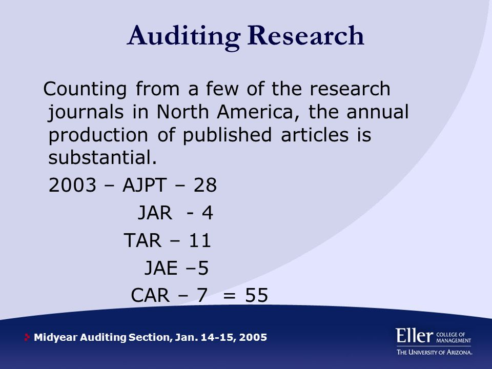 Midyear Auditing Section, Jan.