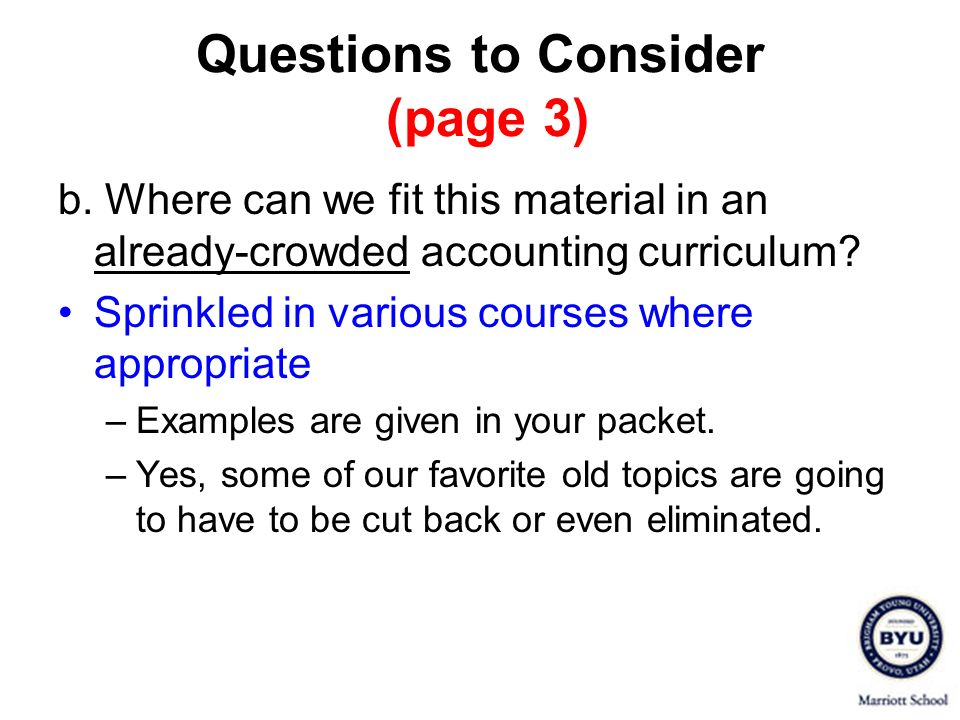 Questions to Consider (page 3) c.