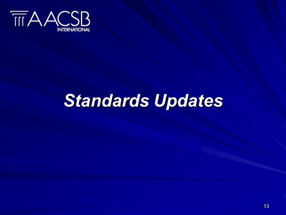 13 Standards Updates