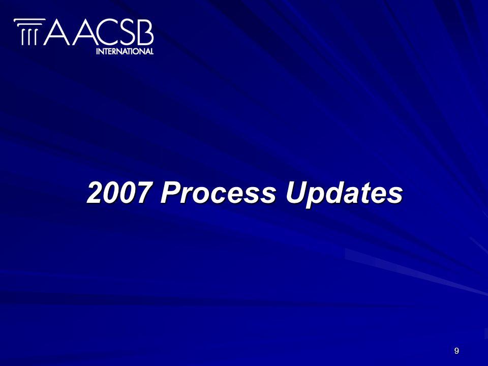 9 2007 Process Updates