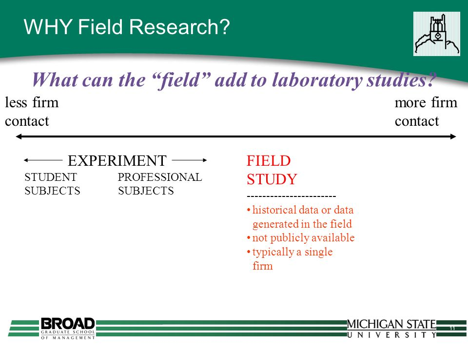 11 WHY Field Research.