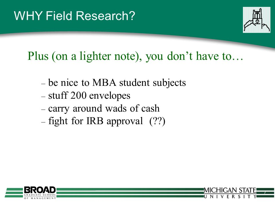 8 WHY Field Research.