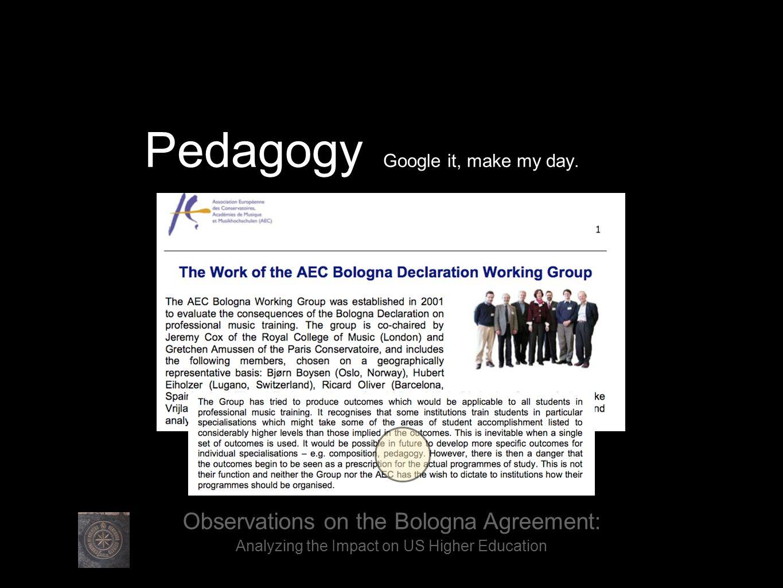 Pedagogy Google it, make my day..