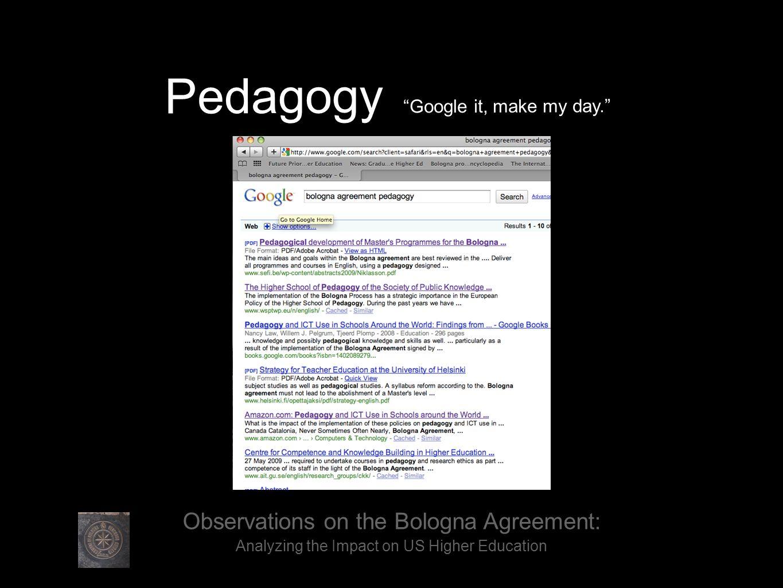 Pedagogy Google it, make my day.