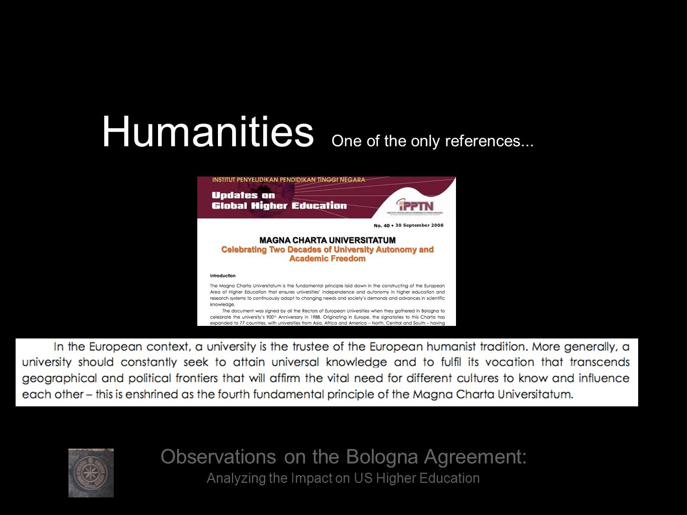 Humanities One of the only references....