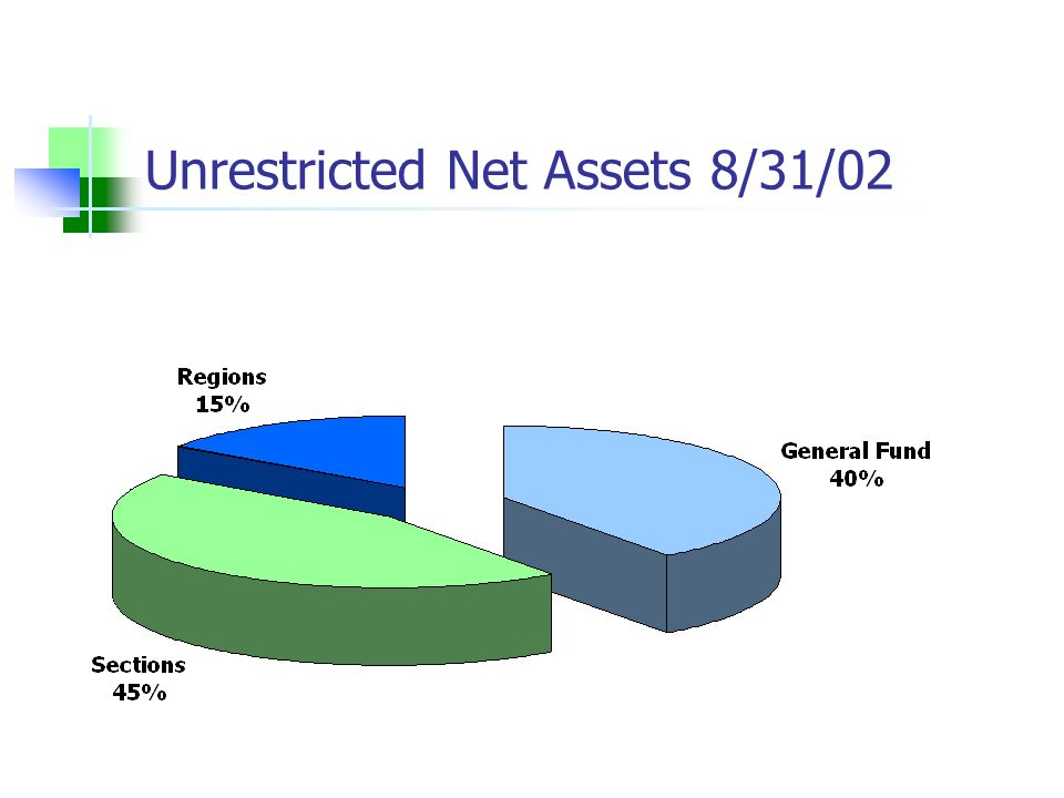 Unrestricted Net Assets 8/31/02