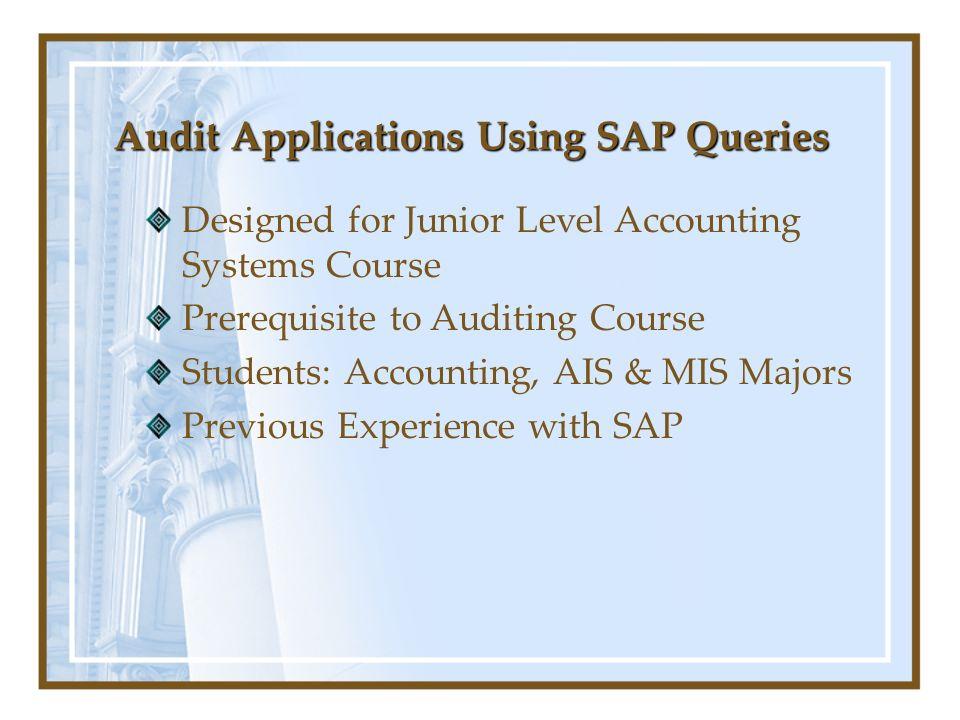 Audit Applications Using SAP Queries Assign User Group to InfoSet Assign User Group to InfoSet