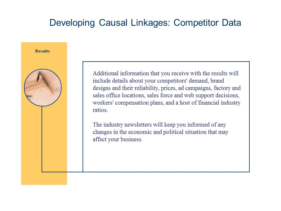 Developing Causal Linkages: Competitor Data