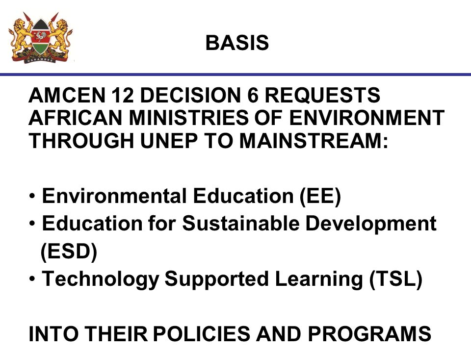 BENEFITS OF TSL IN ENVIRONMENTAL MANAGEMENT EASY ACCESS TO ENVIRONMENTAL INFORMATION BY ALL SATAKEHOLDERS.