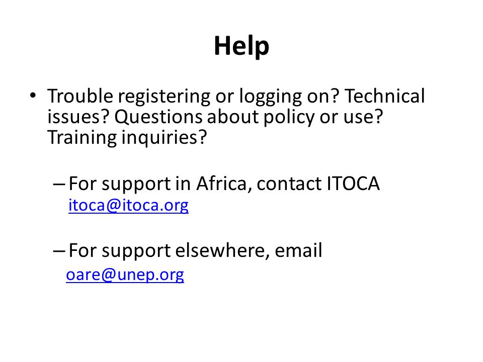 Help Trouble registering or logging on. Technical issues.