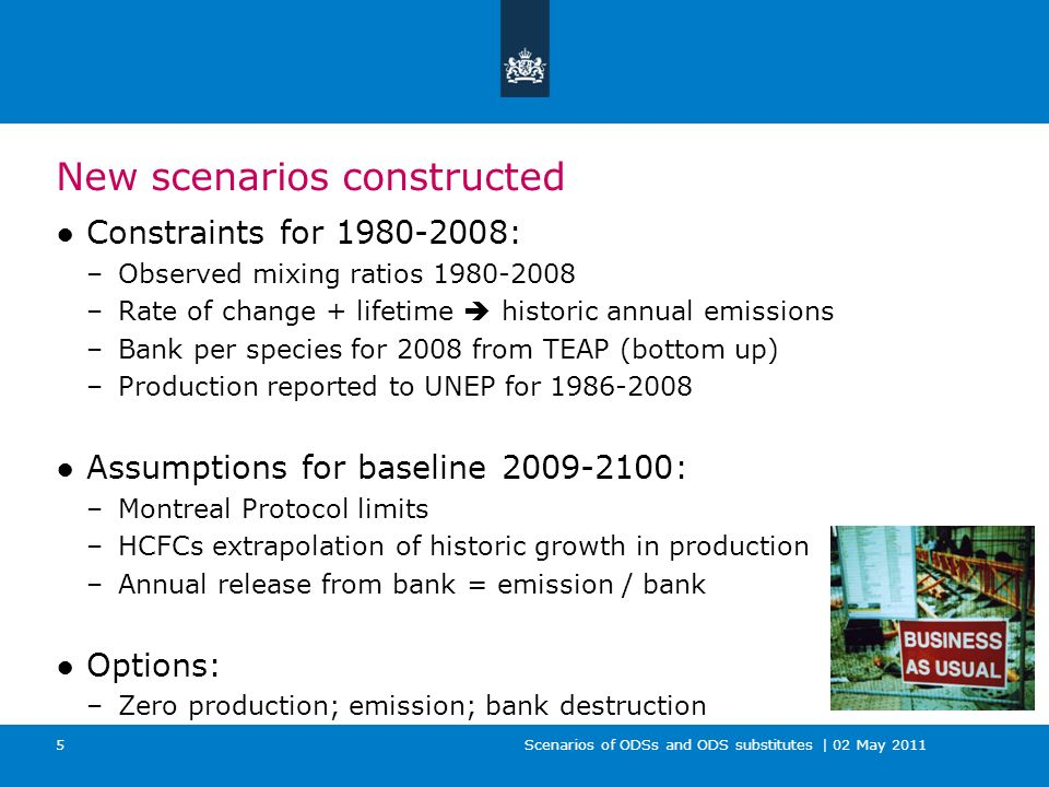 Scenarios of ODSs and ODS substitutes | 02 May 2011 16 Comparing emissions by different metrics Emissions weighted by: –Mass –GWP –ODP