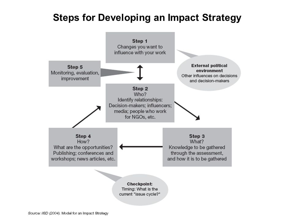 Steps for Developing an Impact Strategy