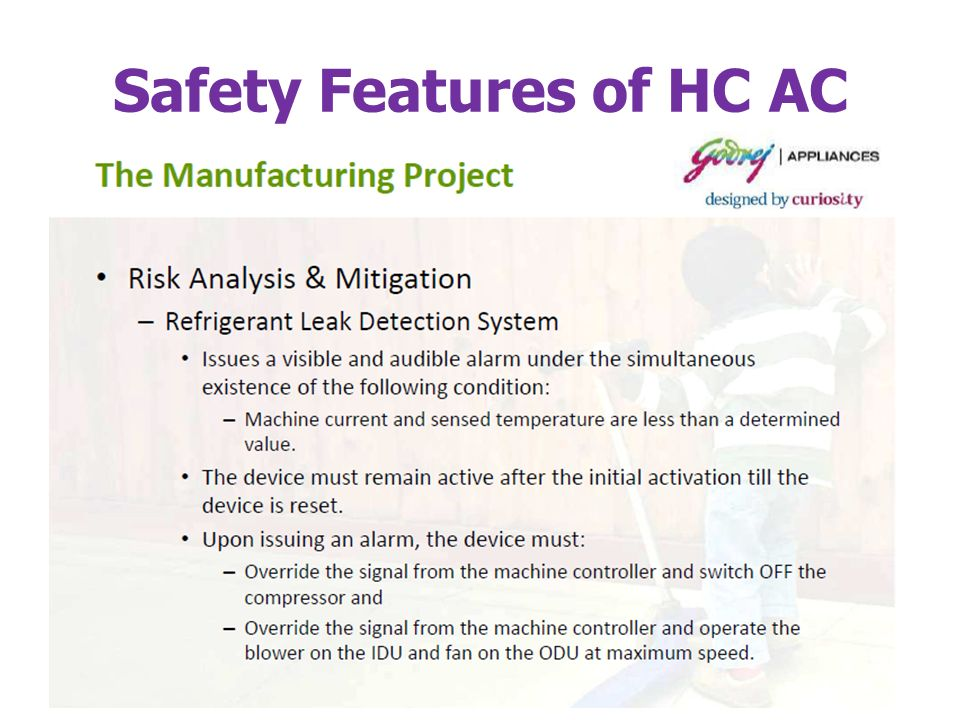 Safety Features of HC AC