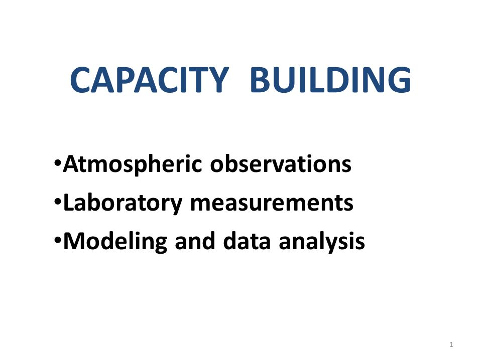 CAPACITY BUILDING Capacity building is not just equipment transfer and investment but also includes localization and human resource development 2