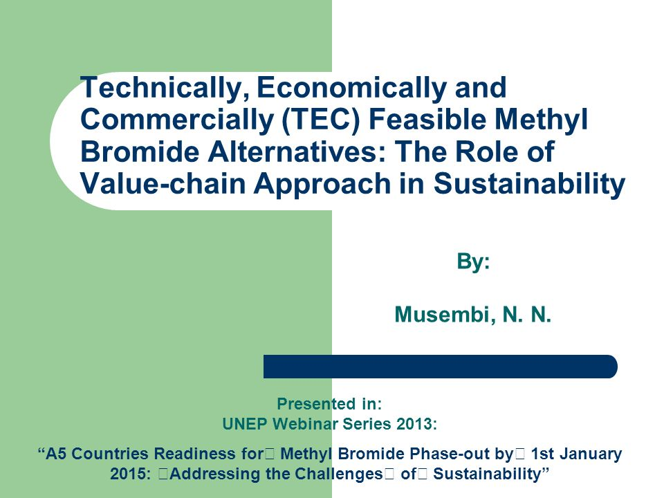 2 Technically sound Economically viable Commercially Feasible Viability Triangle of MB Alternative Technologies