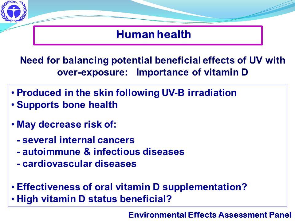 Environmental Effects Assessment Panel Exposure to sunburning UV-B radiation Major environmental risk for skin cancers M.