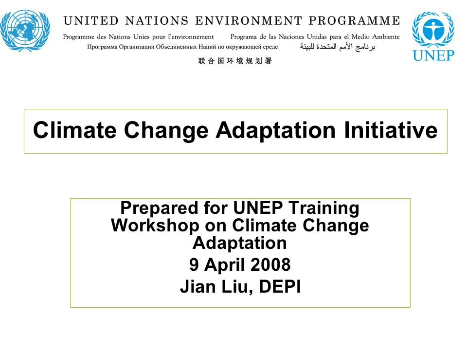 Topics UNEP on Climate Change: Medium-Term Strategy and Climate Change The Science and the needs Setting UNEPs niche for adaptation Actions to support vulnerable countries Towards a programmatic approach