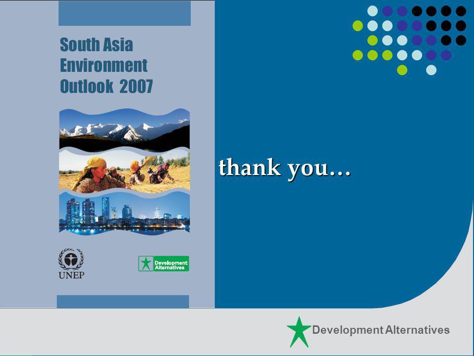Development Alternatives thank you…