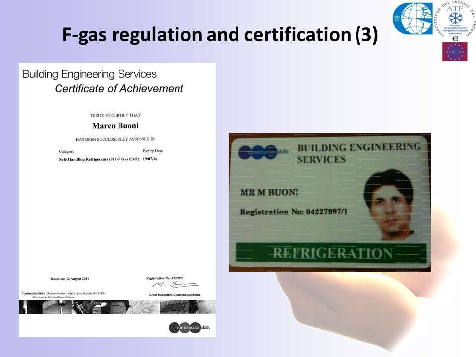F-gas regulation and certification (3)