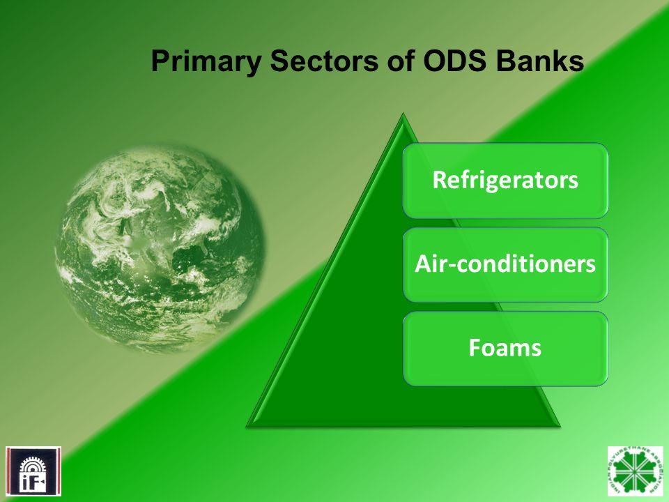 3 RefrigeratorsAir-conditioners Foams Primary Sectors of ODS Banks