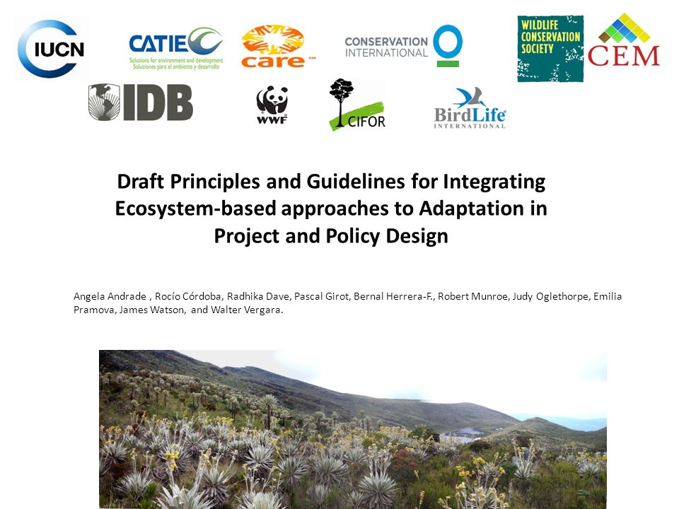 5.Proceed with integrated planning Consider the maintenance of ecosystem services and biodiversity in plans based on people´s needs for livelihood improvement.